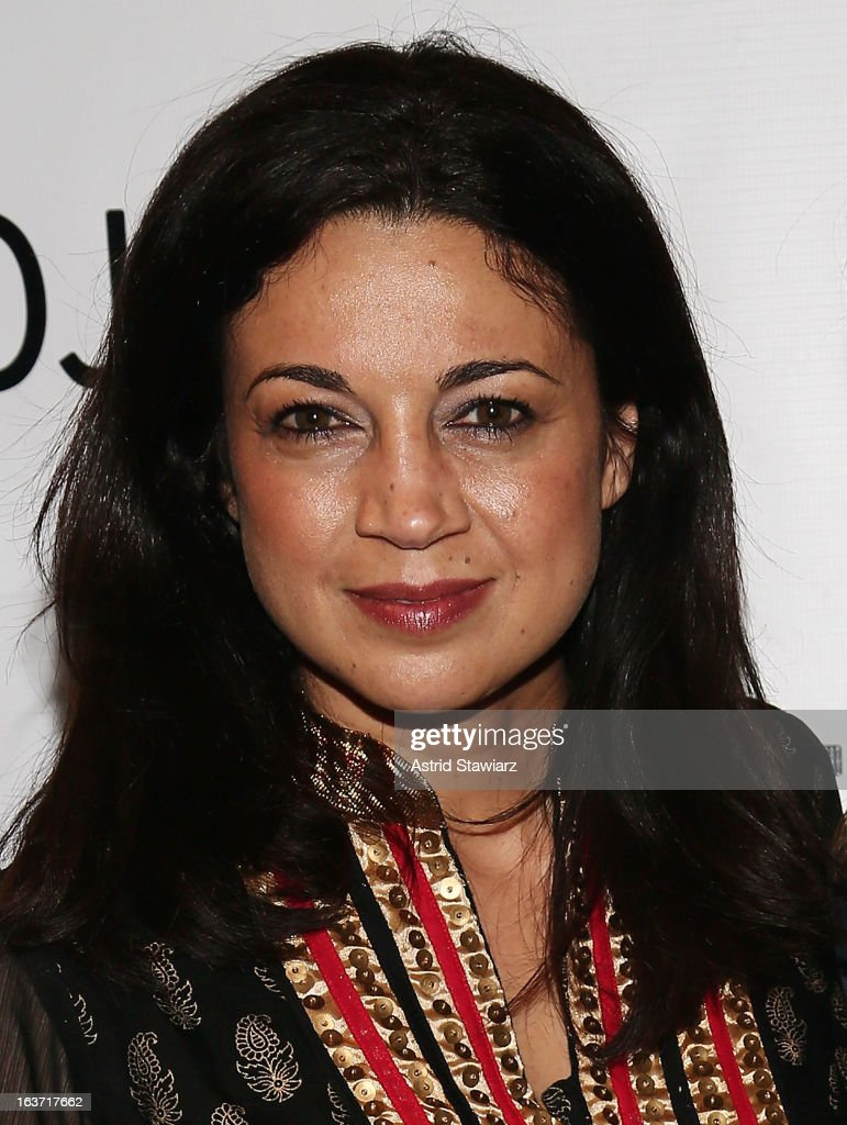 Anna Khaja attends 'Shaheed: The Dream And Death Of Benazir Bhutto' Off Broadway Opening Night at Culture Project on March 14, 2013 in New York City.