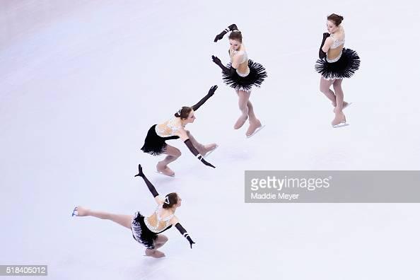 Anna Khnychenkova of Ukraine skates in the Ladies Short Program during Day 4 of the ISU World Figure Skating Championships 2016 at TD Garden on March...