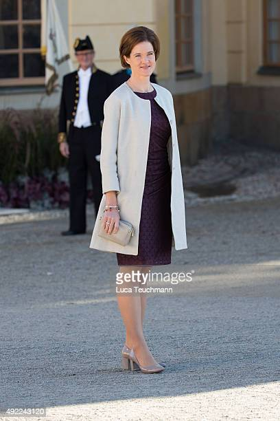 Anna Kinberg Batra is seen at Drottningholm Palace for the Christening of Prince Nicolas of Sweden at Drottningholm Palace on October 11 2015 in...
