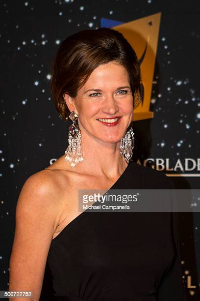 Anna Kinberg Batra leader of the Moderaterna political party attends the Swedish Sports Gala at the Ericsson Globe on January 25 2016 in Stockholm...