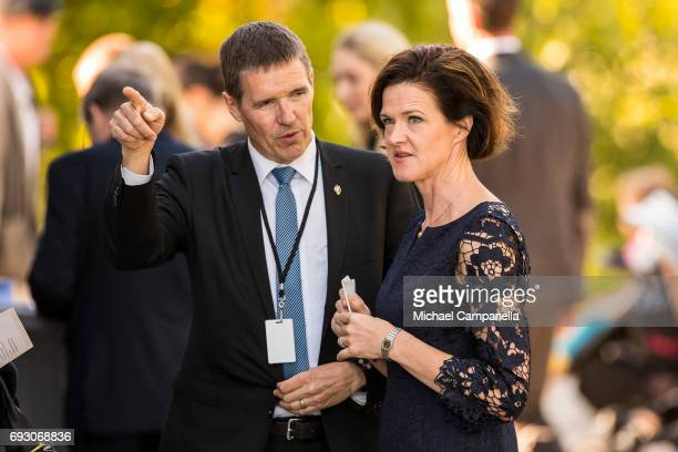 Anna Kinberg Batra leader of the Swedish moderate party during the national day celebrations at Skansen on June 6 2017 in Stockholm Sweden