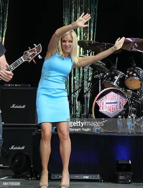 Anna Kooiman of Fox News onstage at 'FOX Friends' All American Concert Series during 'FOX Friends' All American Concert Series outside of FOX Studios...