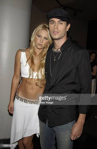 Anna Kournikova and Enrique Iglesias during New York Premiere of 'Once Upon a Time in Mexico' Inside Arrivals at Loews Lincoln Square Theatre in New...