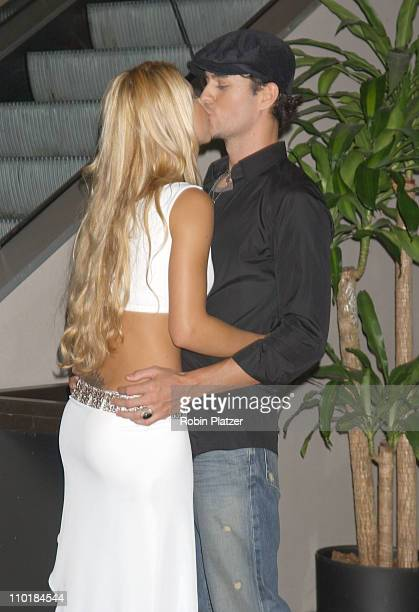 Anna Kournikova and Enrique Iglesias during 'Once Upon A Time In Mexico' New York Premiere at Loews Lincoln Square in New York City New York United...