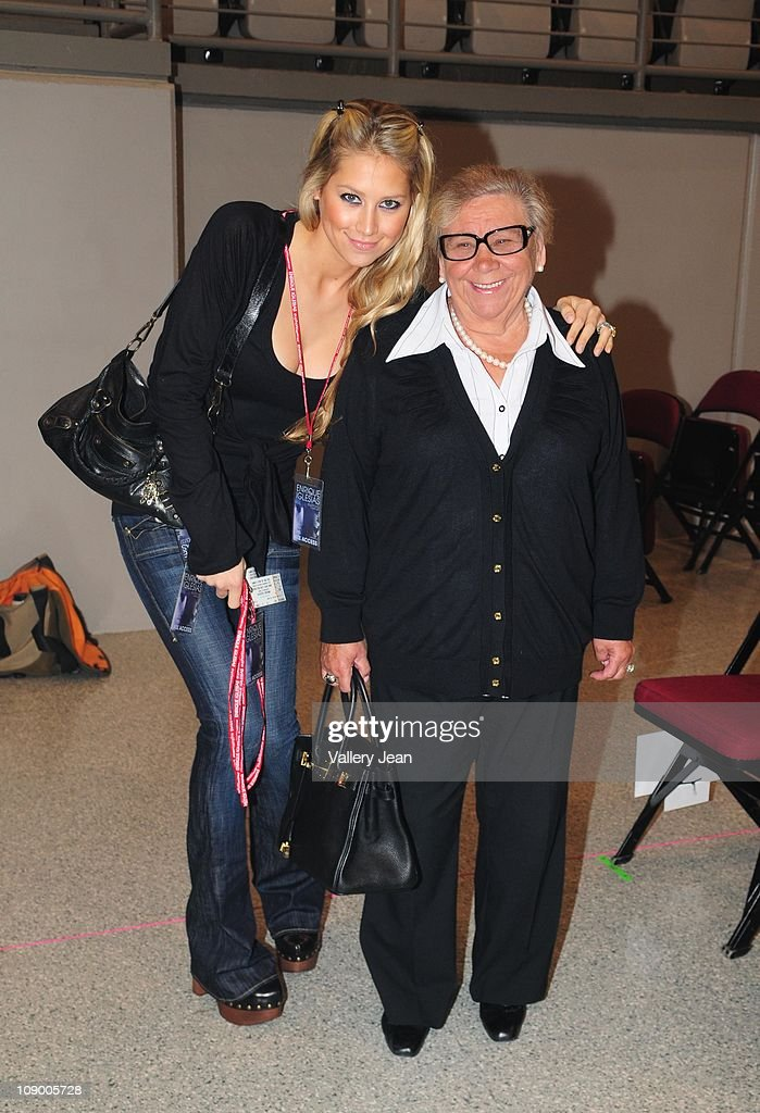 <a gi-track='captionPersonalityLinkClicked' href=/galleries/search?phrase=Anna+Kournikova&family=editorial&specificpeople=176472 ng-click='$event.stopPropagation()'>Anna Kournikova</a> and her grandmother Anna attend Enrique Iglesias Euphoria concert at Hard Rock Live! in the Seminole Hard Rock Hotel & Casino on February 10, 2011 in Hollywood, Florida.