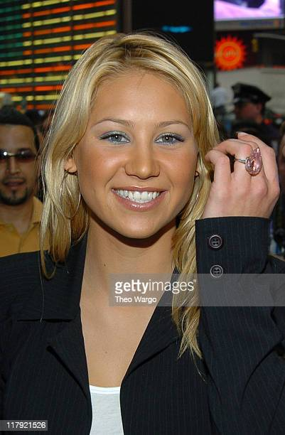 Anna Kournikova at Gillette's 'Completely Irresitable Face' contest at Times Square Studios in New York City May 5 2004