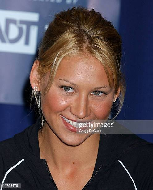 Anna Kournikova during 12th Annual World Team Tennis Smash Hits Benefiting the Elton John AIDS Foundation at Bren Events Center in Irvine California...
