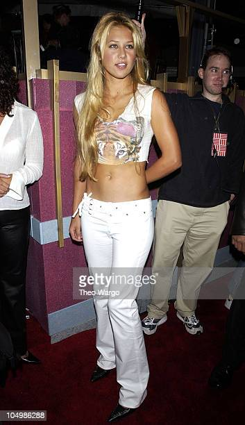 Anna Kournikova during 2002 MTV Video Music Awards Arrivals at Radio City Music Hall in New York City New York United States