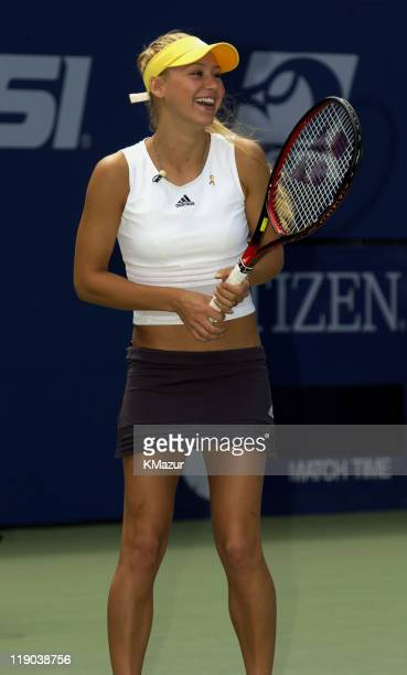 Anna Kournikova during 2003 US Open Arthur Ashe Kids Day at USTA National Tennis Center in Queens New York United States