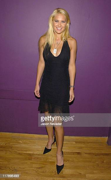Anna Kournikova during 2004 Sports Illustrated Swimsuit Issue After Party Hosted by Pontiac GTO at Club Deep in New York City New York United States