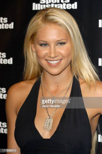 Anna Kournikova during 2004 Sports Illustrated Swimsuit Issue Press Conference at Club Deep in New York City New York United States