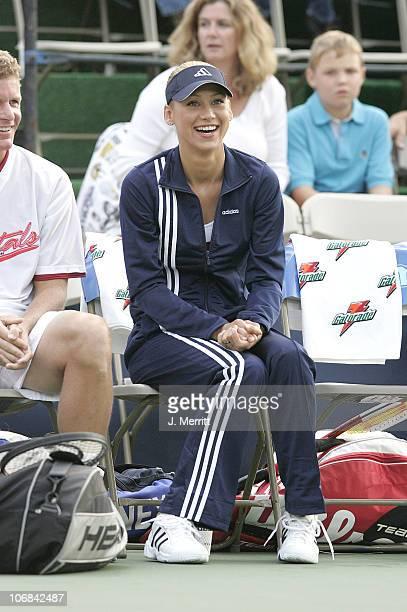 Anna Kournikova during Anna Kournikova and the Sacramento Capitals Play the Newport Beach Breakers in the World Team Tennis Pro League at Hyatt...