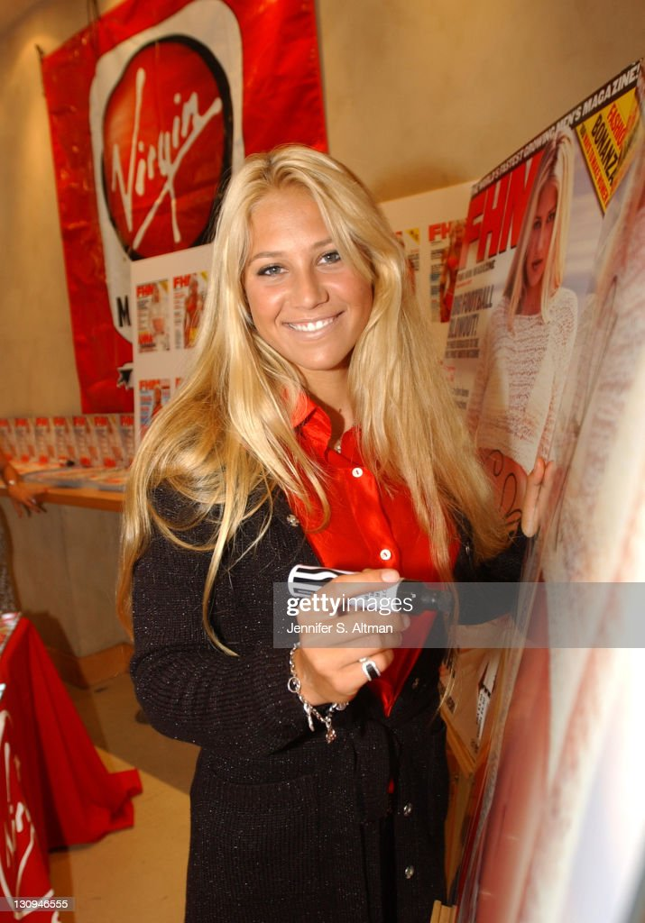 <a gi-track='captionPersonalityLinkClicked' href=/galleries/search?phrase=Anna+Kournikova&family=editorial&specificpeople=176472 ng-click='$event.stopPropagation()'>Anna Kournikova</a> during <a gi-track='captionPersonalityLinkClicked' href=/galleries/search?phrase=Anna+Kournikova&family=editorial&specificpeople=176472 ng-click='$event.stopPropagation()'>Anna Kournikova</a> at FHM Event at Virgin Mega Store at Virgin Megastore in New York City, New York, United States.