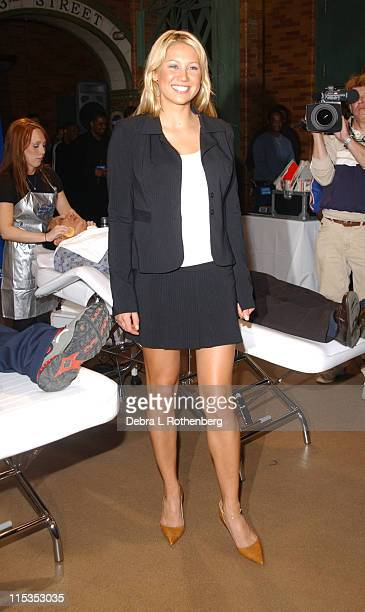 Anna Kournikova during Anna Kournikova Launches Gillette's 'Completely Irresistible Face' Contest at Times Square Studios in New York City New York...