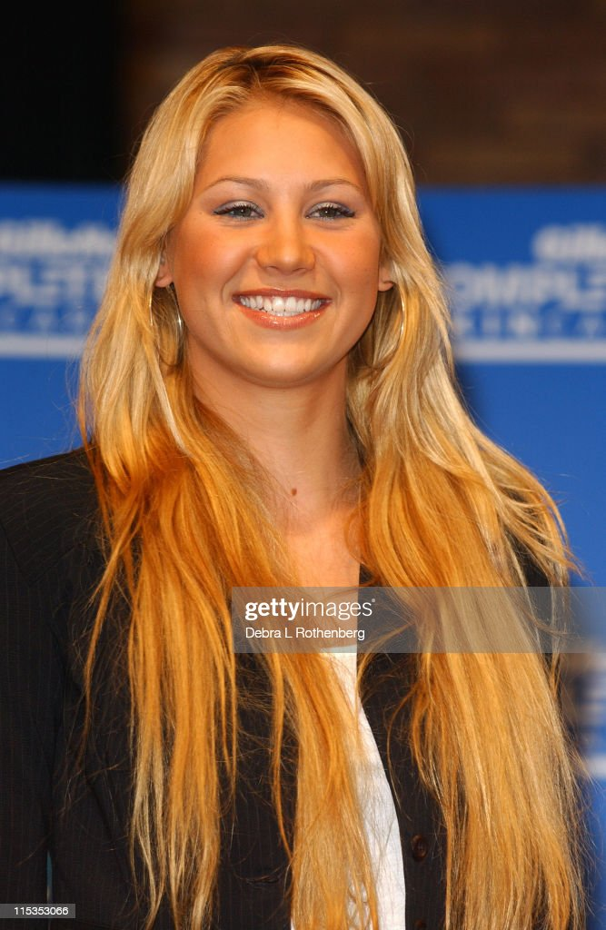 <a gi-track='captionPersonalityLinkClicked' href=/galleries/search?phrase=Anna+Kournikova&family=editorial&specificpeople=176472 ng-click='$event.stopPropagation()'>Anna Kournikova</a> during <a gi-track='captionPersonalityLinkClicked' href=/galleries/search?phrase=Anna+Kournikova&family=editorial&specificpeople=176472 ng-click='$event.stopPropagation()'>Anna Kournikova</a> Launches Gillette's 'Completely Irresistible Face' Contest at Times Square Studios in New York City, New York, United States.