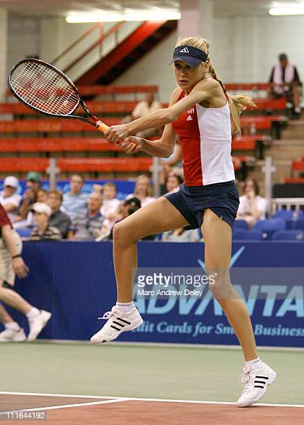 Anna Kournikova during Anna Kournikova World Team Tennis Sacramento Capitals verse Boston Lobsters July 9 2006 at Bright Arena at Harvard in...