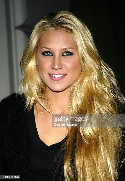 Anna Kournikova during Olympus Fashion Week Fall 2006 Adidas Y3 Arrivals at Roseland Ballroom in New York City New York United States