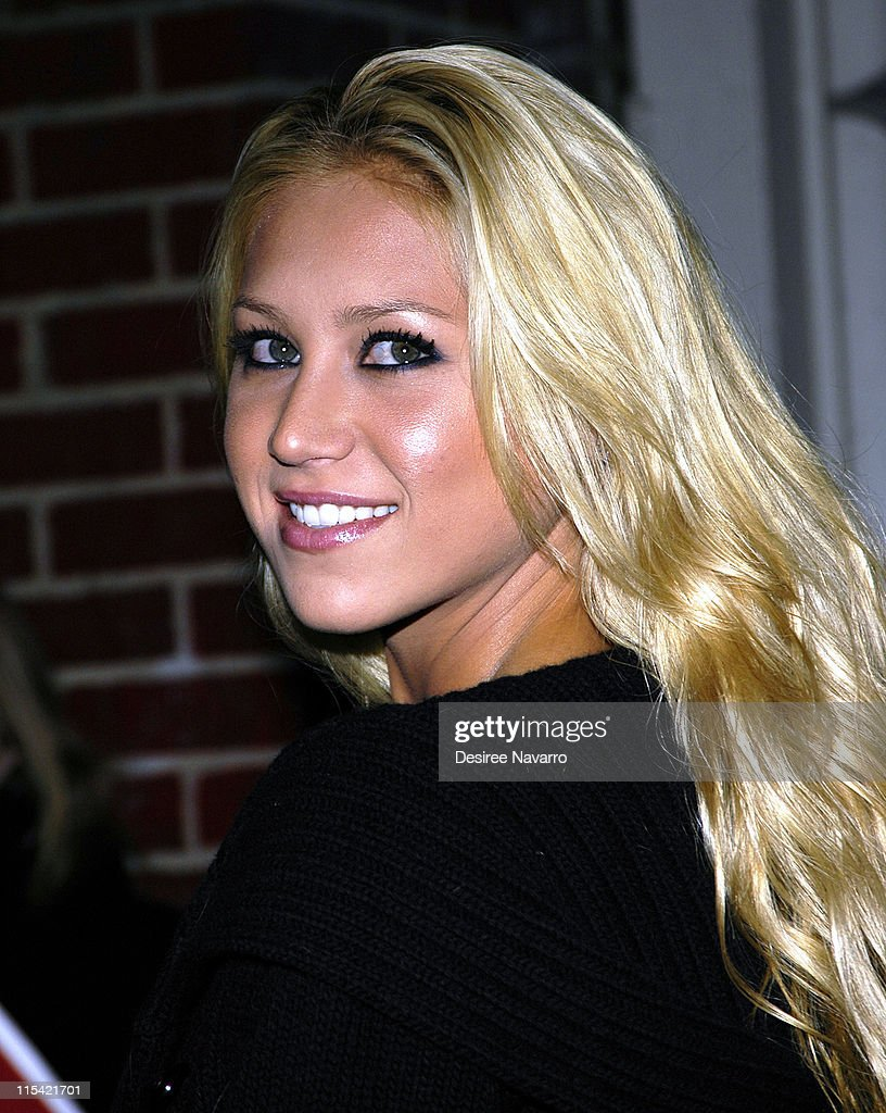 Anna Kournikova during Olympus Fashion Week Fall 2006 - Adidas Y-3 - Arrivals at Roseland Ballroom in New York City, New York, United States.