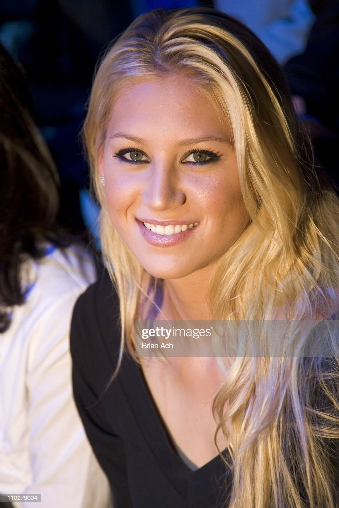 <a gi-track='captionPersonalityLinkClicked' href=/galleries/search?phrase=Anna+Kournikova&family=editorial&specificpeople=176472 ng-click='$event.stopPropagation()'>Anna Kournikova</a> during Olympus Fashion Week Fall 2006 - Y3 - Front Row and Backstage at 239 W. 52nd. St in New York City, New York, United States.