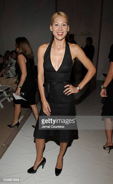 Anna Kournikova during Olympus Fashion Week Spring 2006 Monique Lhullier Front Row and Backstage at The Plaza in New York City New York United States
