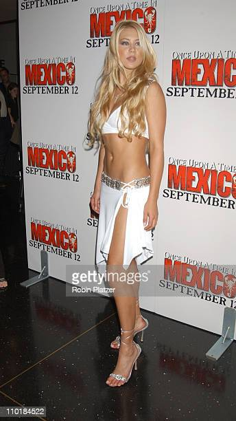 Anna Kournikova during 'Once Upon A Time In Mexico' New York Premiere at Loews Lincoln Square in New York City New York United States