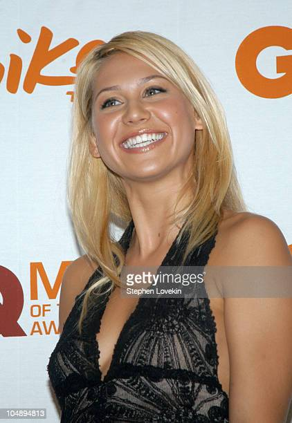 Anna Kournikova during Spike TV Presents 2003 GQ Men of the Year Awards Press Room at The Regent Wall Street in New York City New York United States