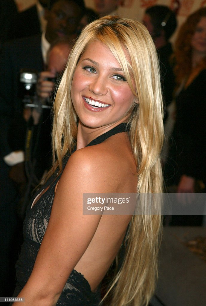 Anna Kournikova, wearing a dress by Collette Dinnigan