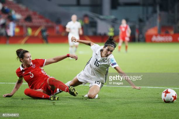 Anna Kozhnikova of Russia women Sara DoorsounKhajeh of Germany women during the UEFA WEURO 2017 Group B group stage match between Russia and Germany...