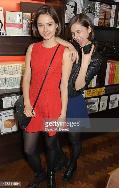 Anna Kuprienko and Sonia Kuprienko of The Bloom Twins attend as Charles Finch Efe Cakarel Hikari Yokoyama celebrate new film platform MUBI at Maison...