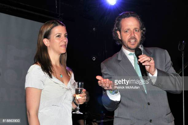 Anna Lappe and Branden Barber attend RAINFOREST ACTION NETWORK's 25th Anniversary Benefit Hosted by CHRIS NOTH at Le Poisson Rouge on April 29 2010...