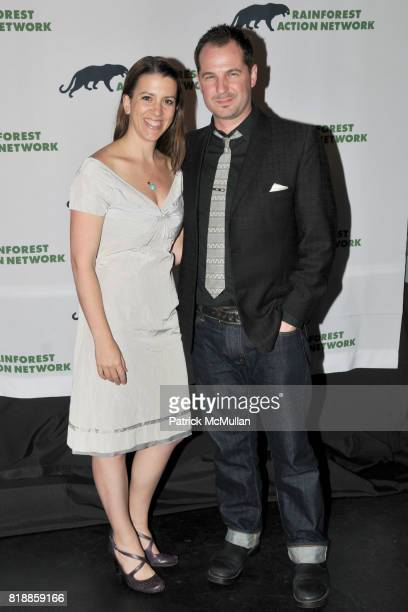 Anna Lappe and Han Shan attend RAINFOREST ACTION NETWORK's 25th Anniversary Benefit Hosted by CHRIS NOTH at Le Poisson Rouge on April 29 2010 in New...