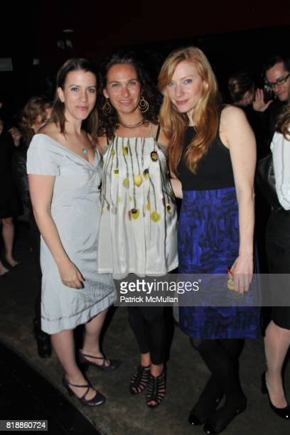 Anna Lappe Ilyse Hogne and Gita Drury attend RAINFOREST ACTION NETWORK's 25th Anniversary Benefit Hosted by CHRIS NOTH at Le Poisson Rouge on April...