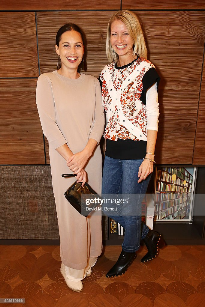 <a gi-track='captionPersonalityLinkClicked' href=/galleries/search?phrase=Anna+Laub&family=editorial&specificpeople=7791858 ng-click='$event.stopPropagation()'>Anna Laub</a> (L) and Holli Rogers attend the BFC Fashion Trust x Farfetch cocktail reception on April 28, 2016 in London, England.