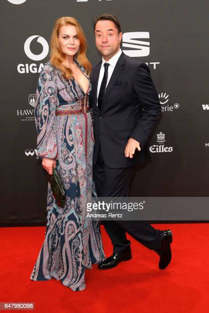Anna Loos and Jan Josef Liefers arrive for the Goldene Kamera on March 4 2017 in Hamburg Germany