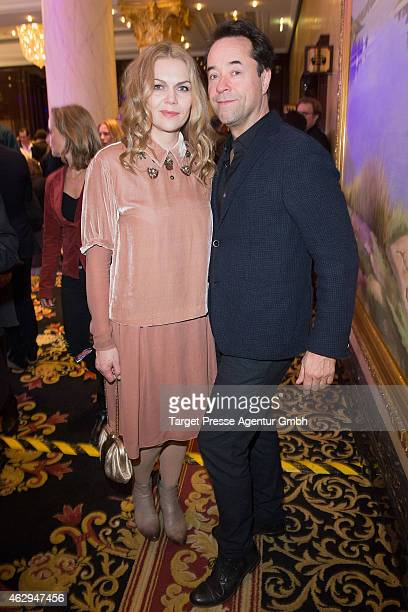Anna Loos and Jan Josef Liefers attend the Medienboard BerlinBrandenburg Reception at Ritz Carlton on February 7 2015 in Berlin Germany