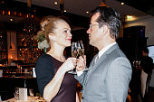 Anna Loos and Jan Josef Liefers attend the Moet Chandon Grand Scores Dinner on February 04 2015 in Berlin Germany