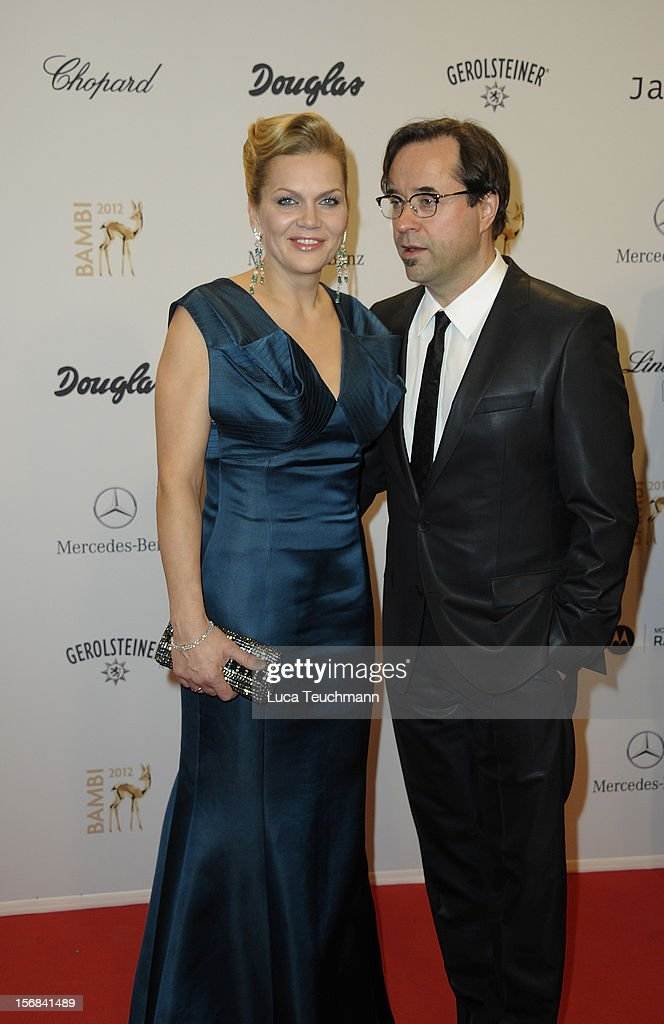 Anna Loos and Jan Josef Liefers attends 'BAMBI Awards 2012' at the Stadthalle Duesseldorf on November 22, 2012 in Duesseldorf, Germany.