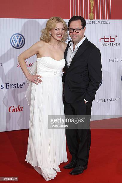 Anna Loos and JanJosef Liefers attend the German film award at Friedrichstadtpalast on April 23 2010 in Berlin Germany