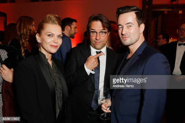 Anna Loos Jan Josef Liefers and guest attend the German Television Award at Rheinterrasse on February 2 2017 in Duesseldorf Germany
