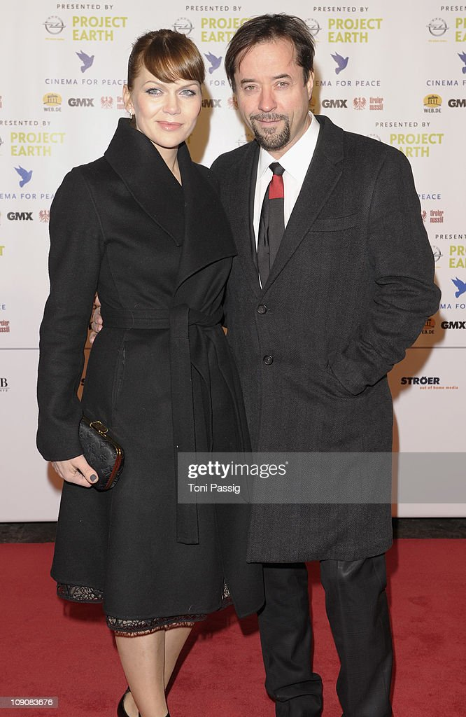 Anna Loos-Liefers and Jan Josef Liefers attend the Cinema for Peace Gala at the Konzerthaus am Gendarmenmarkt during day five of the 61st Berlin International Film Festival on February 14, 2011 in Berlin, Germany.