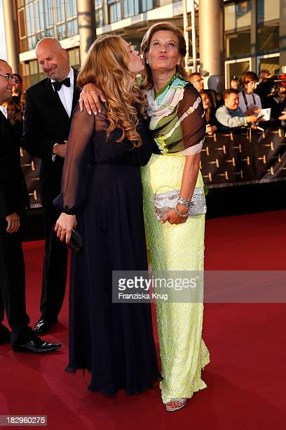 Anna LoosLiefers and Suzanne von Borsody attend the Deutscher Fernsehpreis 2013 Red Carpet Arrivals at Coloneum on October 02 2013 in Cologne Germany