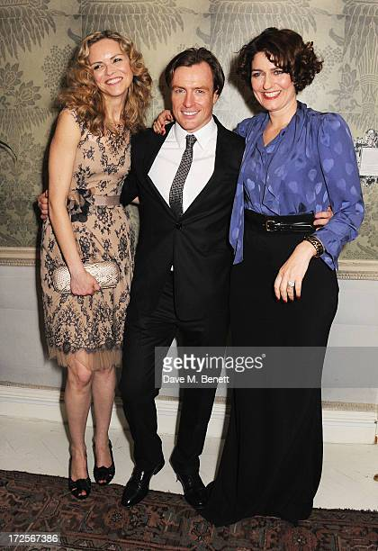 Anna Louise Plowman Toby Stephens and Anna Chancellor attend 'Private Lives' Press Night at Kettners on July 3 2013 in London England