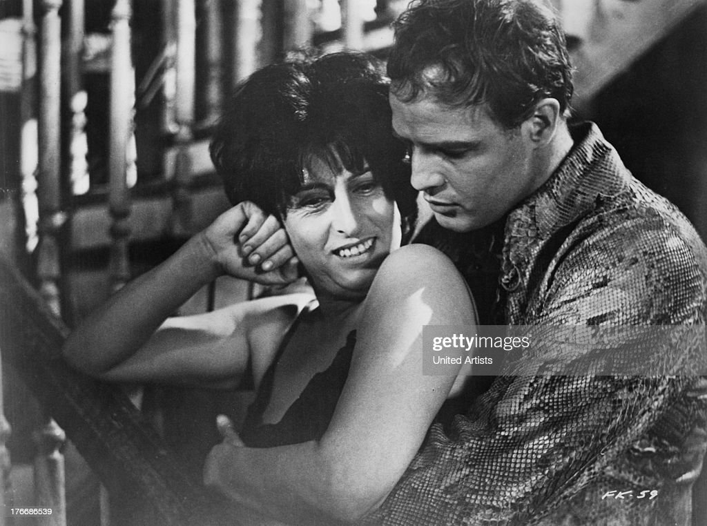 Anna Magnani as Lady Torrance and Marlon Brando as Valentine 'Snakeskin' Xavier in 'The Fugitive Kind' directed by Sidney Lumet 1959