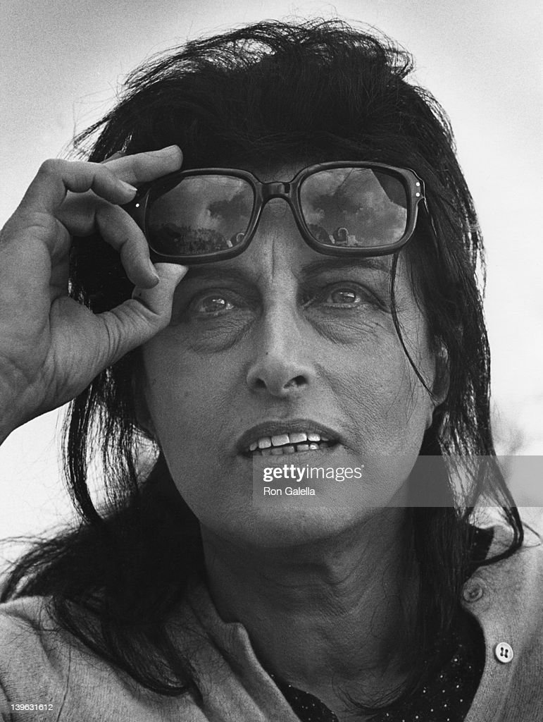 Anna Magnani sighted on location filming 'The Secret of Santa Vittoria' on September 3 1968 in Rome Italy