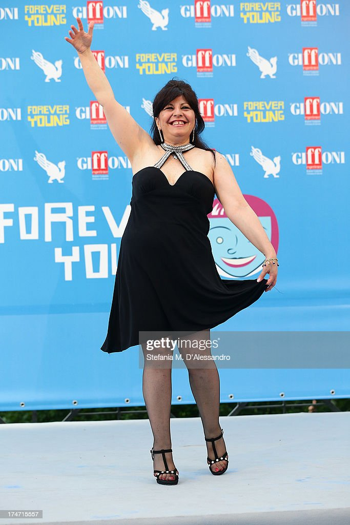 Anna Maria Barbera attends 2013 Giffoni Film Festival photocall on July 28, 2013 in Giffoni Valle Piana, Italy.