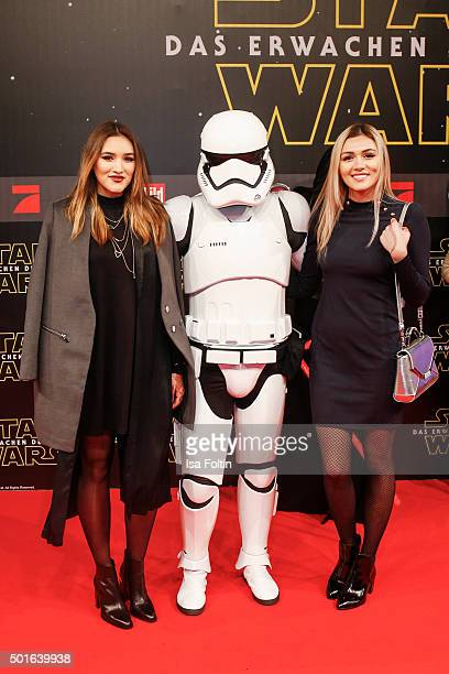 Anna Maria Damm and guest attend the German premiere for the film 'Star Wars The Force Awakens' at Zoo Palast on December 16 2015 in Berlin Germany