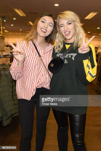 Anna Maria Damm and her sister Katharina Damm attend the TK Maxx 10th anniversary celebration on October 18 2017 in Berlin Germany