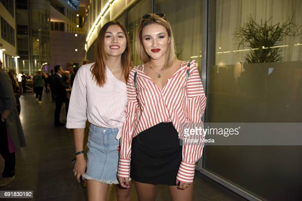 Anna Maria Damm and her sister Katharina Damm during the Deutscher Webvideopreis 2017 at ISS Dome on June 1 2017 in Duesseldorf Germany