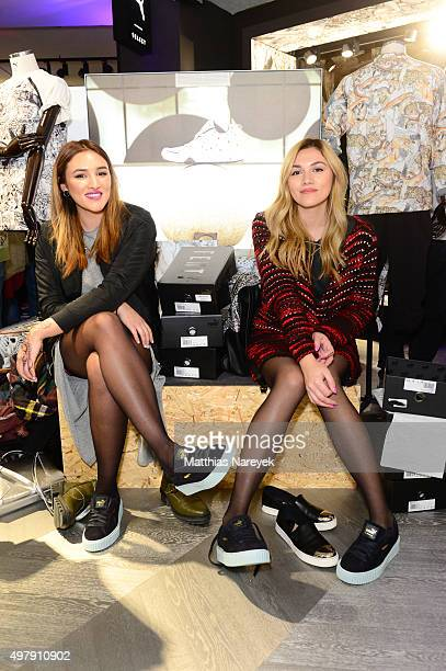 Anna Maria Damm and Katharina Damm the opening of the new PUMA flagship store with the new 'Forever Faster' store concept on November 19 2015 in...