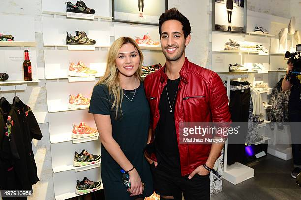 Anna Maria Damm and Sami Slimani attends the opening of the new PUMA flagship store with the new 'Forever Faster' store concept on November 19 2015...